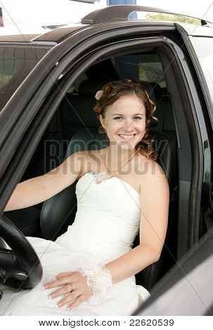 The Bride At The Wheel A Car