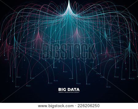 Complex Information Big Data Visualization. Abstract Futuristic Energy Representation Vector Concept