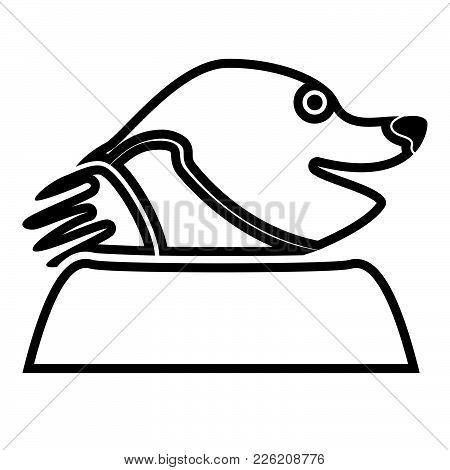 Mole Black Color Icon Flat Style It Is Simple Illustration