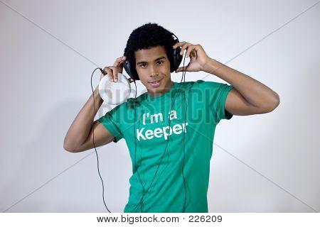 Teen Listening To Music