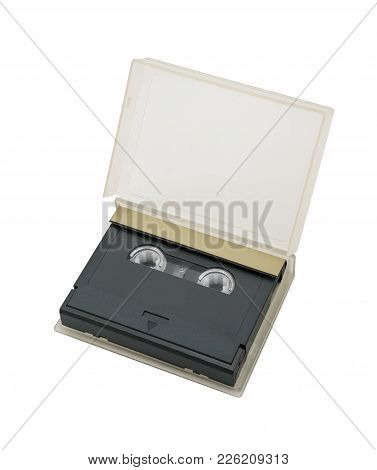 Digital Audio Tape Isolated On White Background. Dat With Clipping Path Included.