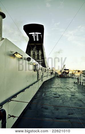 Ferryboat deck