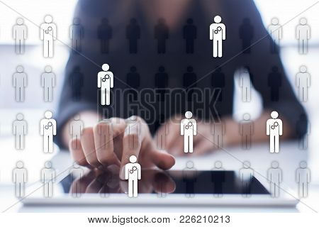 Human Resource Management, Hr, Recruitment, Leadership And Teambuilding. Business And Technology Con
