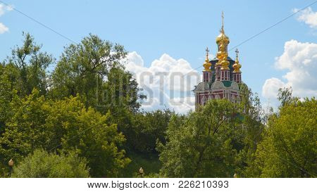 Tower Of The Novodevichy Convent. Moscow, Russia
