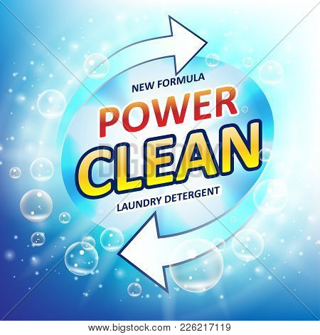 Laundry Detergent Package Ads. Toilet Or Bathroom Tub Cleanser Design. Washing Machine Laundry Deter