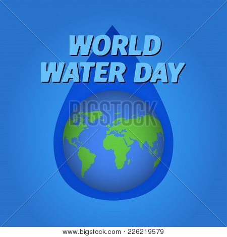 Creative World Water Day Greeting Stock Vector