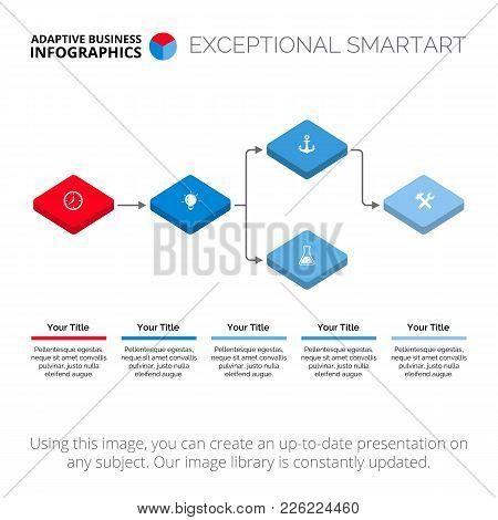Block Scheme Diagram. Element Of Diagram, Presentation, Flowchart. Concept For Presentation, Reports