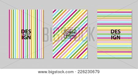 Creative Multicolor Backgrounds Set. Trendy Templates For Card, Banner, Poster. Vector Illustration