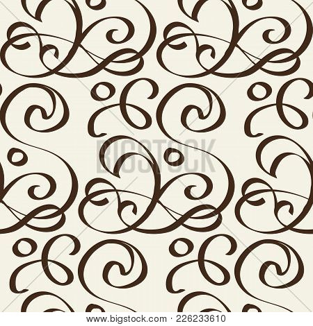Abstract Seamless Undisciplined Style Black And White Pattern With Repeating Geometric Weaves And Cr
