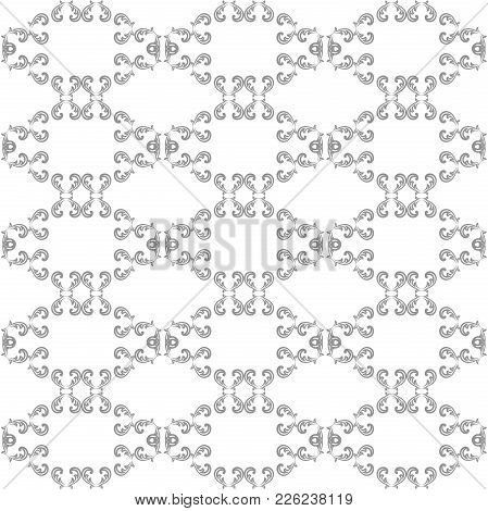 Classic Seamless Silver Pattern. Traditional Orient Ornament. Classic Vintage Background