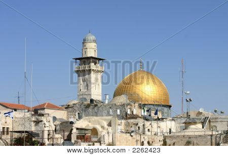 Photo Of Mosque Dome Of The Rock In Jerusalem Israel