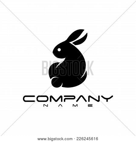 Rabbit Icon Vector In Modern Flat Style For Web, Graphic And Mobile Design. Rabbit Icon Vector Isola