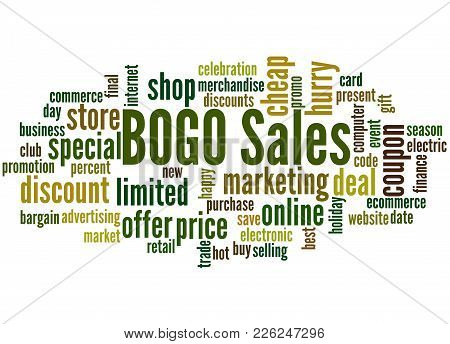 Bogo Sales Word Cloud Concept