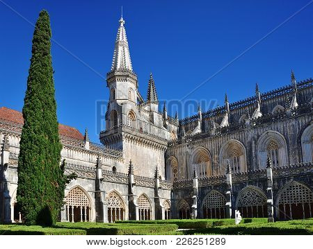 Portugal Batalha. Monastery Of Santa Maria Da Vitoria Or Da Batalha Monastery One Of The Most Beauti