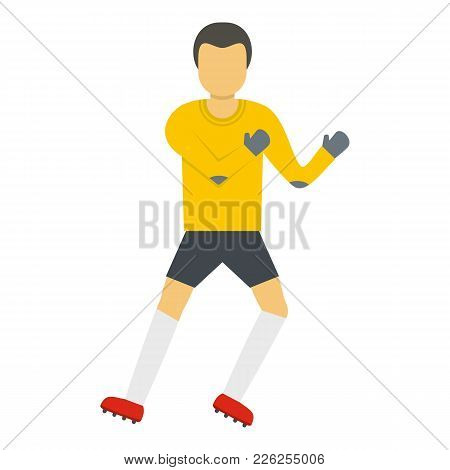 One Goalkeeper Icon. Flat Illustration Of One Goalkeeper Vector Icon For Web