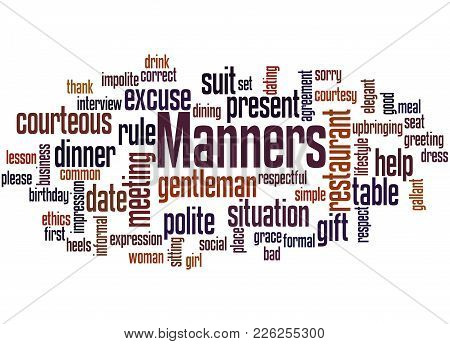 Manners Word Cloud Concept 4