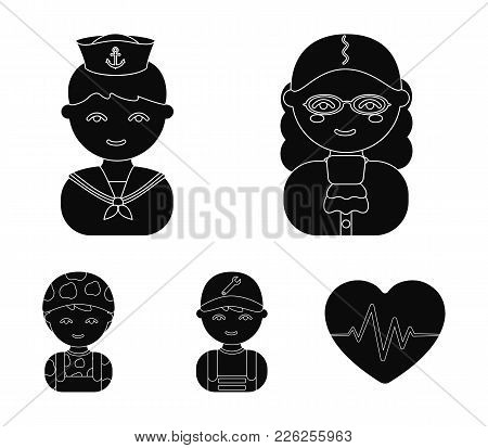 Judge, Sailor, Soldier, Mechanic.profession Set Collection Icons In Cartoon Style Vector Symbol Stoc