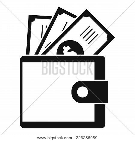 Wallet Icon. Simple Illustration Of Wallet Vector Icon For Web