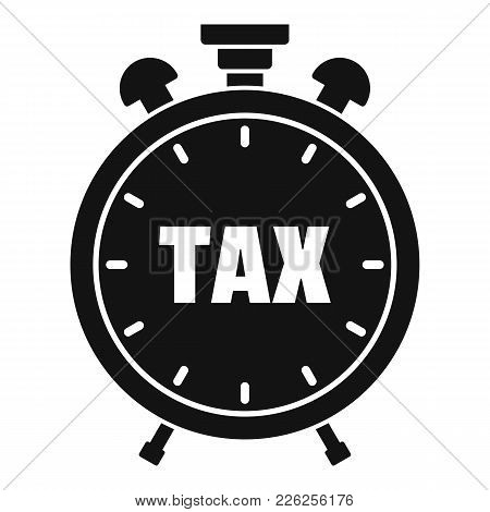 Time Tax Icon. Simple Illustration Of Time Tax Vector Icon For Web