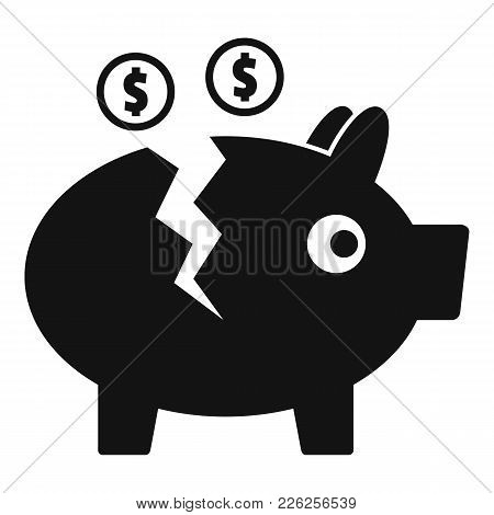 Piggy Bank Icon. Simple Illustration Of Piggy Bank Vector Icon For Web
