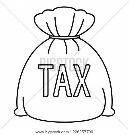 Money Bag Icon. Outline Illustration Of Money Bag Vector Icon For Web