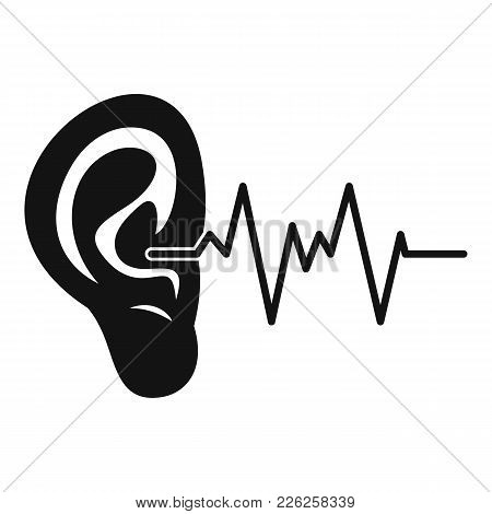 Ear Icon. Simple Illustration Of Ear Vector Icon For Web
