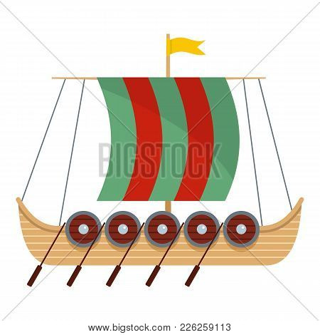 Galleon Icon. Flat Illustration Of Galleon Vector Icon For Web