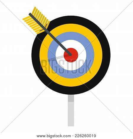 Aim Icon. Flat Illustration Of Aim Vector Icon For Web
