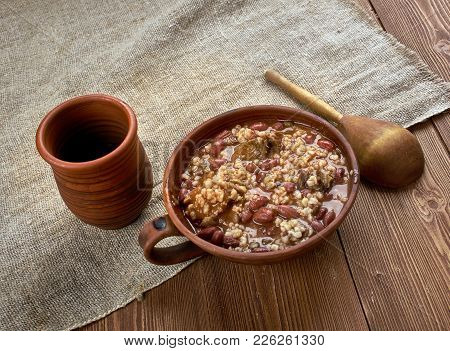 New Orleans-style Red Beans And Rice , Close Up