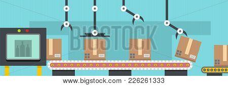 Warehouse Banner. Flat Illustration Of Warehouse Vector Banner For Web