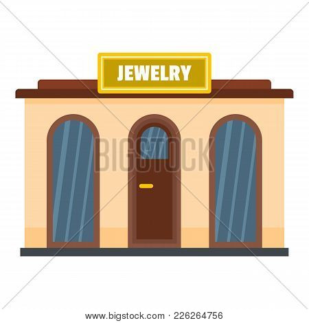 Jewelry Shop Icon. Flat Illustration Of Jewelry Shop Vector Icon For Web
