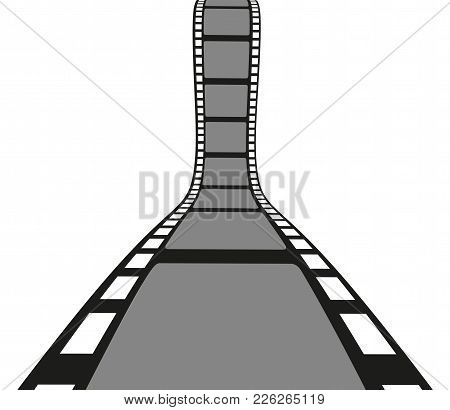 Filmstrip Roll Isolated On The White Background. Vector Illustration. Cinema And Movie Element Or Ob