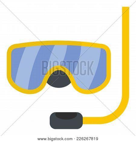 Scuba Mask Icon. Flat Illustration Of Scuba Mask Vector Icon For Web