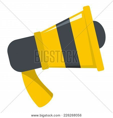Megaphone Icon. Flat Illustration Of Megaphone Vector Icon For Web