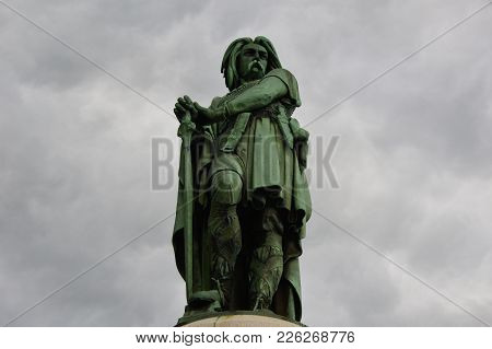 The Emblematic Statue Of  Vincingetorix From Alesia