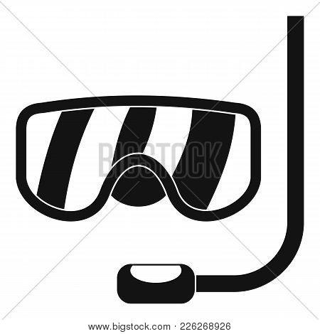 Scuba Mask Icon. Simple Illustration Of Scuba Mask Vector Icon For Web