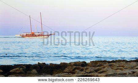 Twilight Boat Cruise In The Mediterranean Sea