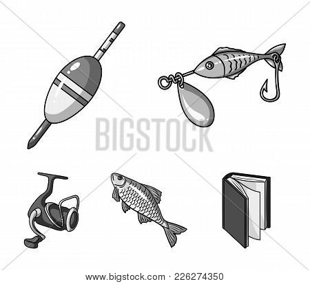 Fishing, Fish, Catch, Hook .fishing Set Collection Icons In Monochrome Style Vector Symbol Stock Ill
