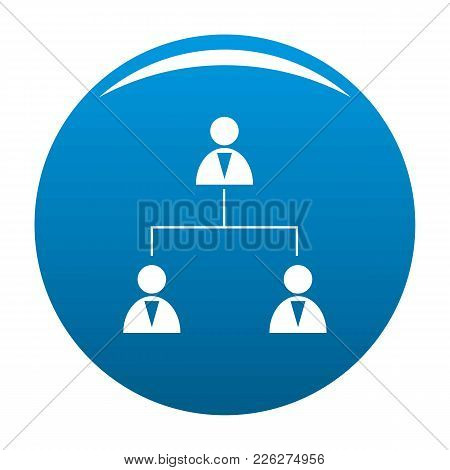 Business Structure Icon Vector Blue Circle Isolated On White Background
