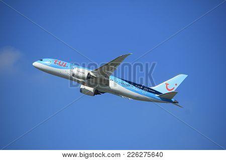 Amsterdam The Netherlands - September 23rd 2017: Ph-tfl Tui Airlines Netherlands Boeing 787-8 Dreaml