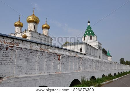 Walls And Towers Of The Ipatievsky Monastery, Kostroma, Russia.