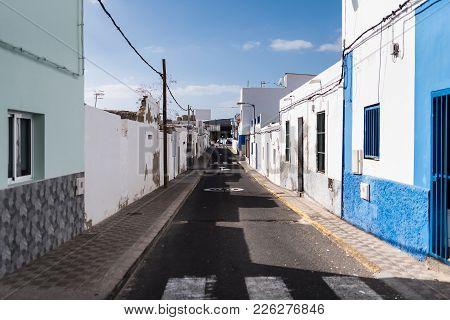 Narrow Alley In Fishermen's Town On Fuerteventura Island