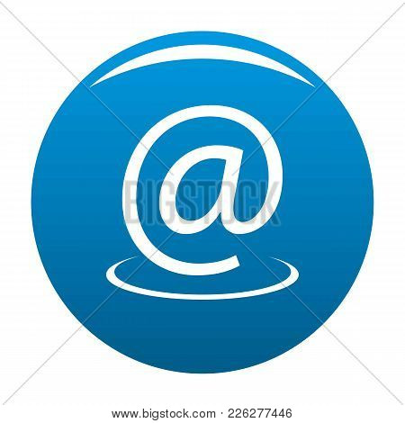 Email Address Icon Vector Blue Circle Isolated On White Background