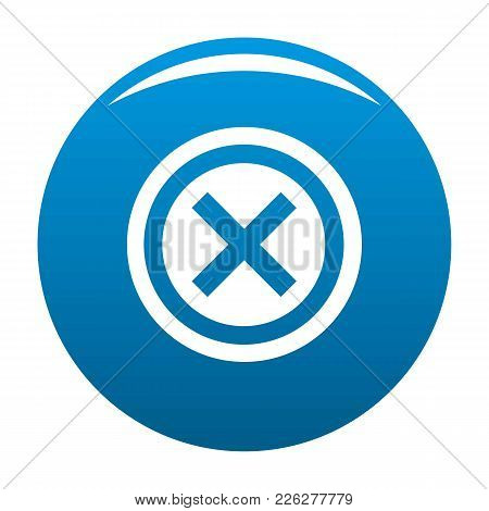 Not Icon Vector Blue Circle Isolated On White Background