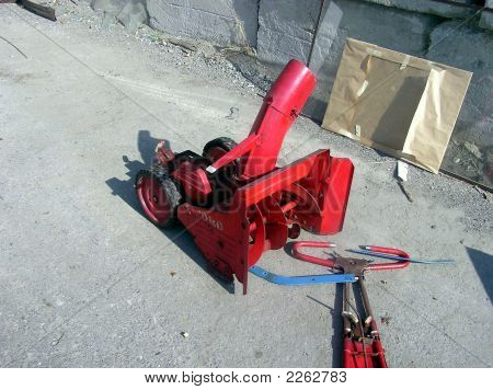 Dismantled Snowblower