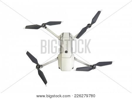 camera drone isolate on white background