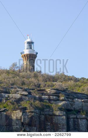 Lighthouse Cliff Blue Sky