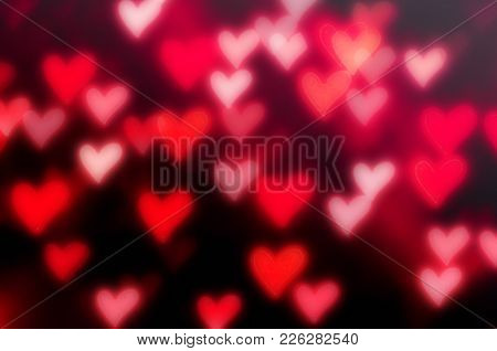 St Valentines Day Heart Bokeh Background