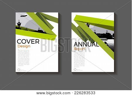 Layout Abstract Green Background Modern Cover Design Modern Book Cover Brochure Cover  Template,annu