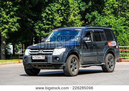 Moscow, Russia - July 7, 2012: Off-road Vehicle Mitsubishi Pajero In The City Street.
